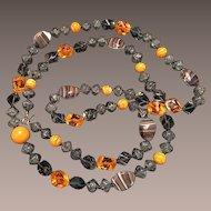 Vintage Hattie Carnegie Glass Necklace