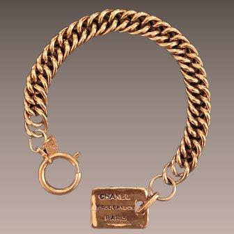 Chanel Dog Tag Bracelet