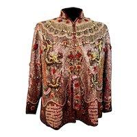 Custom Couture Ornate Beaded Dragon Jacket