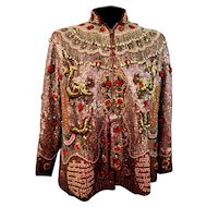 Custom Couture Ornate Beaded Dragon Jacket