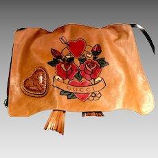 Gucci Tribeca Tattoo Heart Crossbody Bag