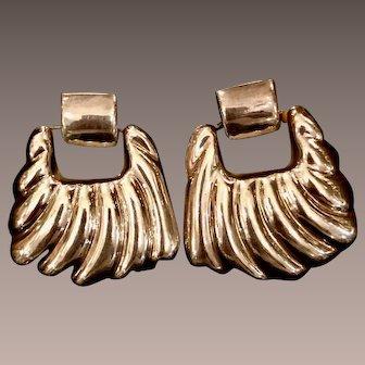 Vintage Silver Door Knocker Earrings