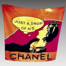 """Extremely Rare Chanel """"Just a drop of No 5"""" Scarf"""