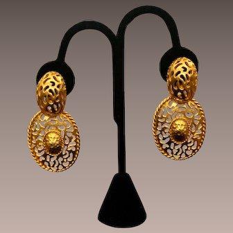 Vintage Gold Tone Jay Feinberg Earrings