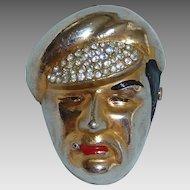 H. Pomerantz Smoking Capped Man Vintage Figural