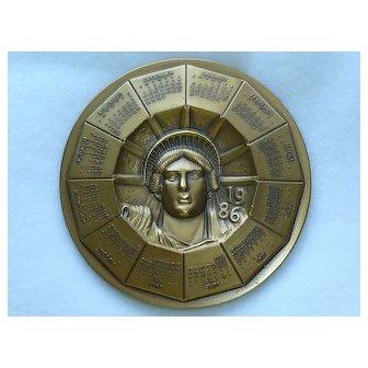 1986 Statue of Liberty Commemorative Bronze Medallion
