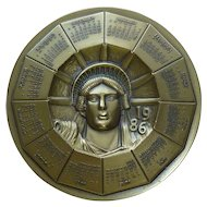 1986 Statue of Liberty Commemorative Bronze Medallion