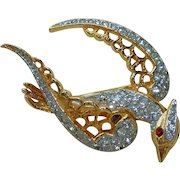 Kenneth J Lane Rhinestone Bird K.J.L. Pin Brooch