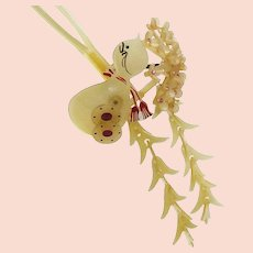 Japanese 1920s Hairpin Celluloid Flower Figure