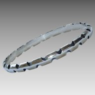 Antonio Pineda Notched 970 Silver Bangle Bracelet