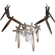 Copper Abstract Modernist Brutalist Necklace Vintage