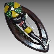 Wooden Sunbather with Beach Ball 1940s