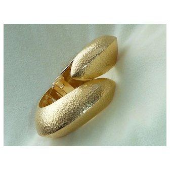 Givenchy Gold Tone Bypass Bracelet Vintage 1970s
