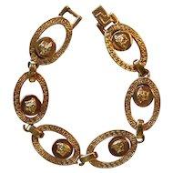 Versace Medusa Rose Gold Tone Link Bracelet