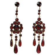 Bohemian Garnet Vintage Earrings