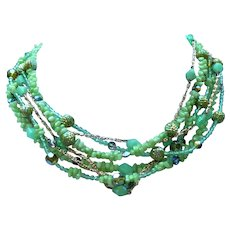 Original by Robert Multi Strand and Bead Necklace