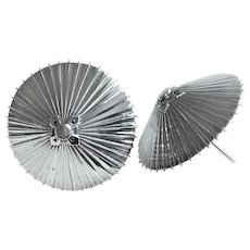 Umbrella Salt and Pepper Shakers 950 Sterling