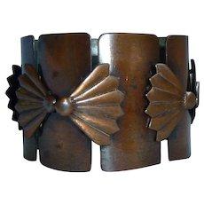 Rebajes Wide Copper Fan Link Bracelet