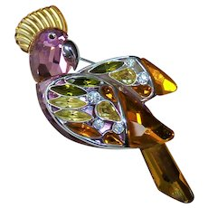 Cockatoo Crystal Swarovski Pin Brooch Daniel Swarovski