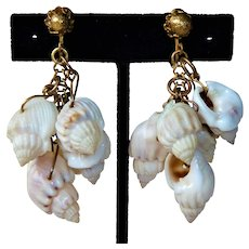 Miriam Haskell Glass Shell Earrings