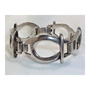 Sterling Stirrup Bracelet Vintage