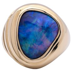 Men's 10.38ct Opal Ring in 18k Gold