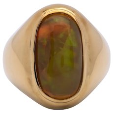 Mens 7.25ct Crystal Opal Ring - Full Play of Color
