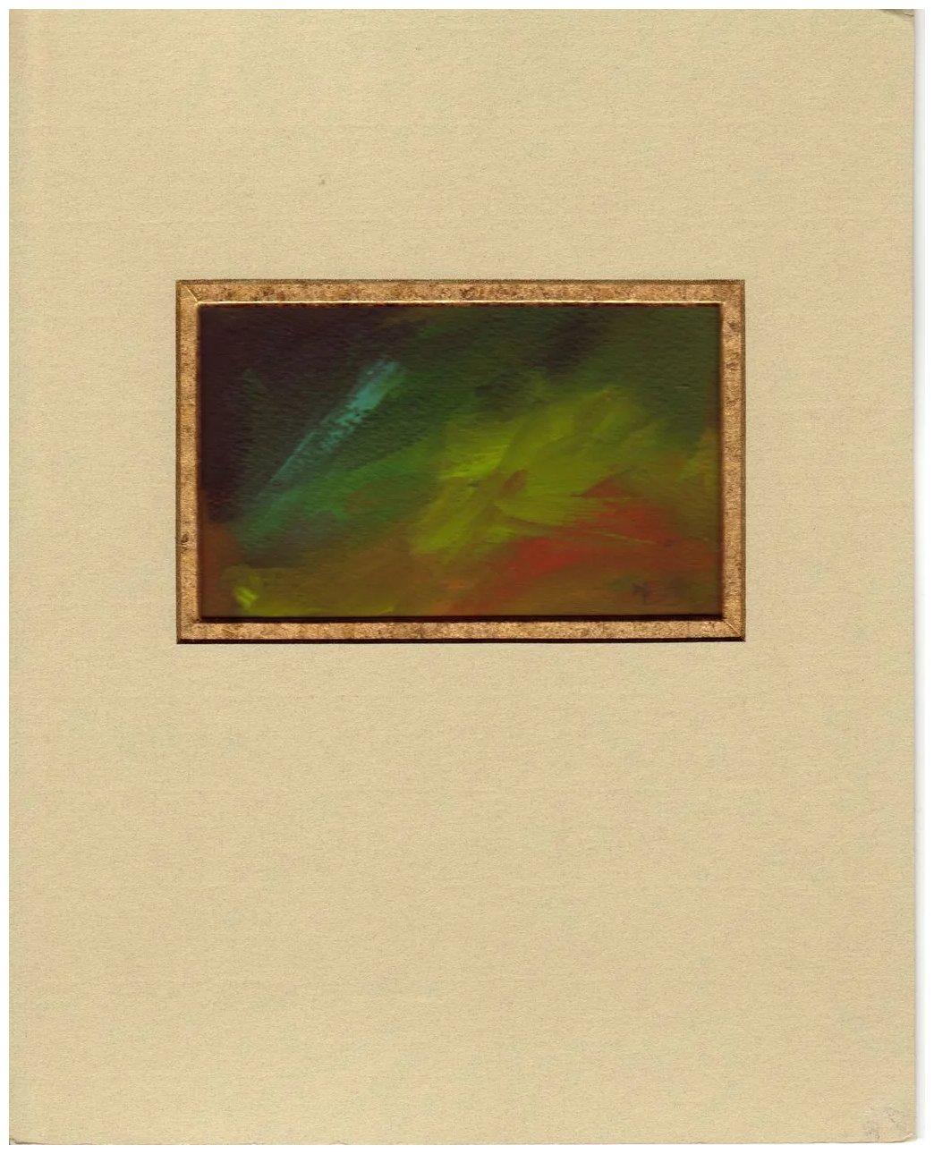 Abstract Oil Painting Campbell S Melange Ruby Lane