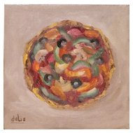 Roman Pizza Pie Oil Painting