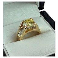 2.40ct Fancy Yellow Diamond Ring