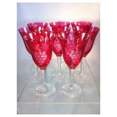 Cranberry Sherry Glasses