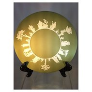Green Jasperware Wedgwood Plate