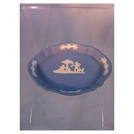 Wedgwood Blue Jasperware pin tray