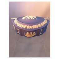 Wedgwood Blue Oval Box
