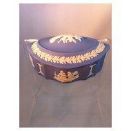 Wedgwood Blue Oval Box
