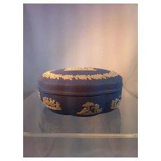 Wedgwood blue Jasperware Box