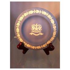 Wedgwood Blue Jasperware Plate