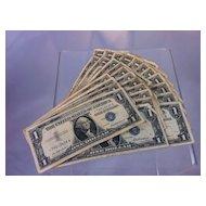 Silver Certificates 28 bill lot