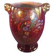 Crown Devon Fieldings Rouge Lusterware Vase