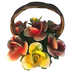 Capodimonte Basket of Flowers