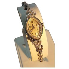Ladies 14k White Gold and Diamond Hamilton Watch