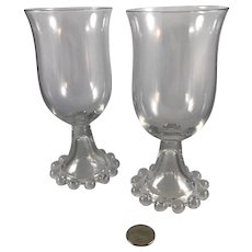 Pair of Imperial Glass Co. Candlewick Wine Goblets