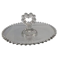 Imperial Candlewick Glass Heart Handle Bon Bon Dish #2