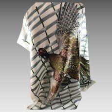 "Hermes Vintage Silk Scarf ""Faisian"" Pheasant"
