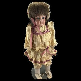 "Bisque Head Sleepy-Eyed 21"" Doll"