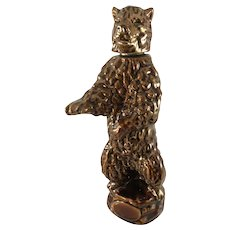 Ezra Brooks Whiskey Bear decanter