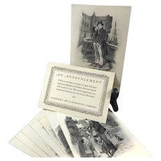 Dickens Character Sketches, Set of 8