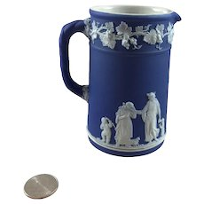Wedgwood Cobalt Blue Jasperware Pitcher