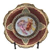 Royal Vienna Style Austrian C Larsen Wall Plate