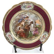 Royal Vienna Style Austrian Angelica Kaufmann Cabinet Plate